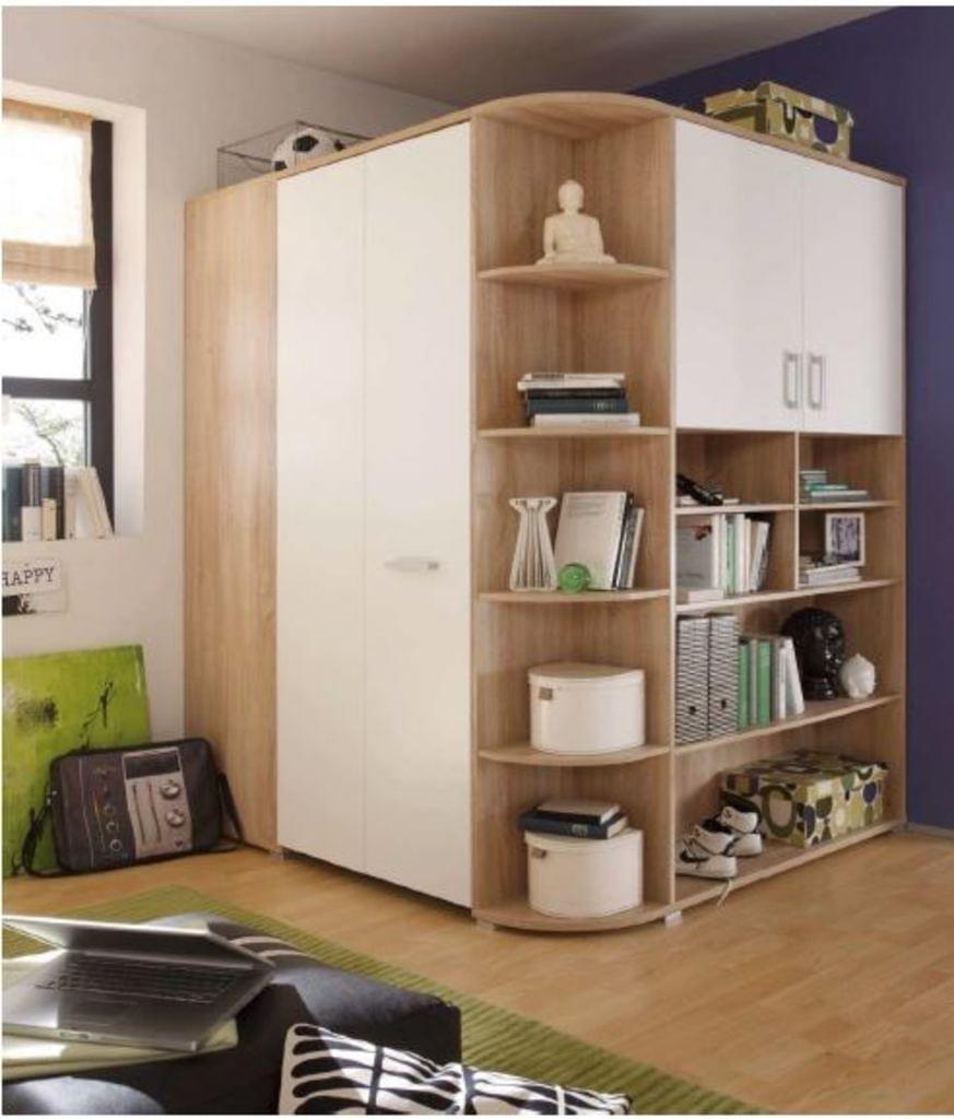 Full Size of Eckkleiderschrank Kinderzimmer Kleiderschrank Corner Nessi Regal Mit Wohnzimmer Kleiderschrank Real