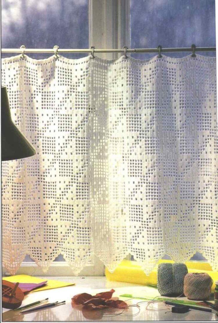 Medium Size of Moderne Hkelgardinen Fr Romantischen Touch 30 Ideen Gardinen Für Die Küche Wohnzimmer Schlafzimmer Planen Kostenlos Scheibengardinen Fenster Wohnzimmer Gardinen Häkeln Anleitung Kostenlos
