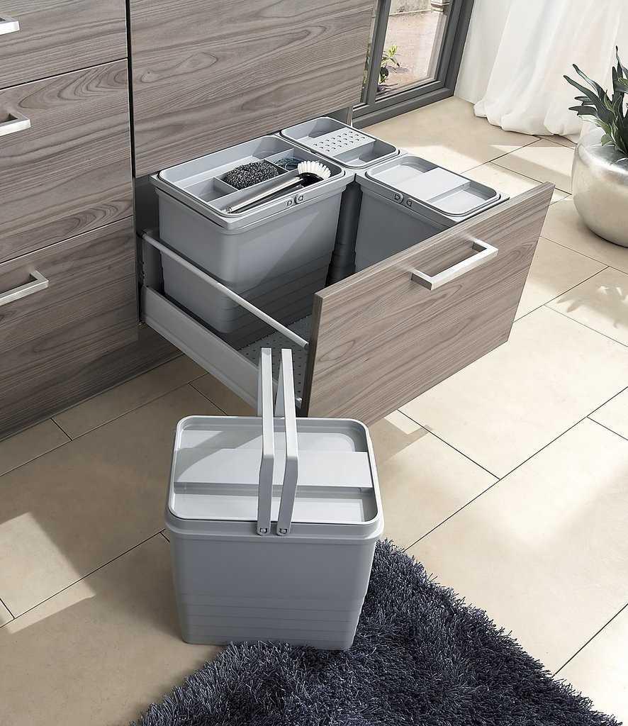 Full Size of Original Burger Kchen Einbauabfallsammler Set Eins2top Müllsystem Küche Wohnzimmer Häcker Müllsystem