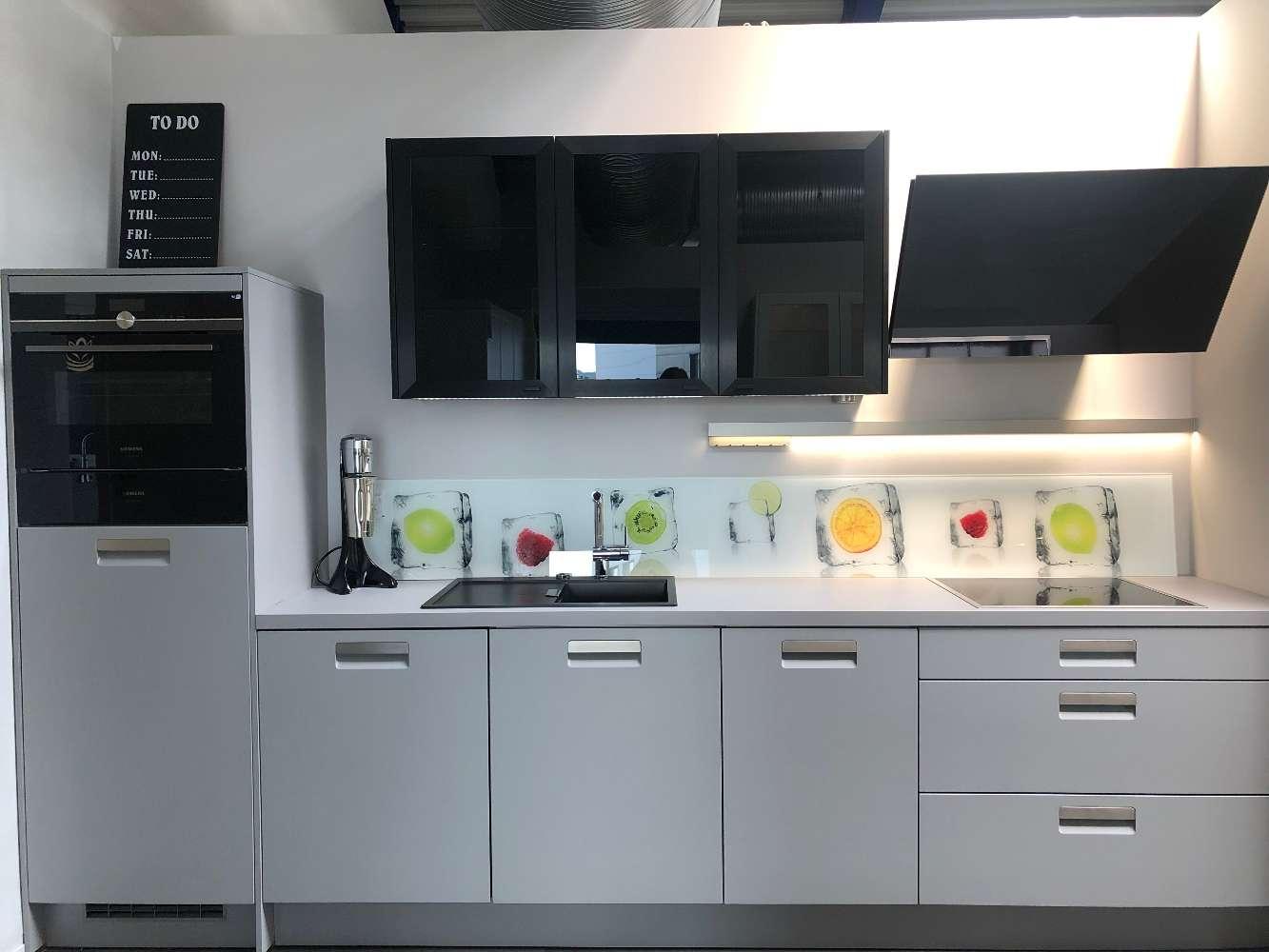 Full Size of Hcker Ausstellungskche Planungswelten Müllsystem Küche Wohnzimmer Häcker Müllsystem