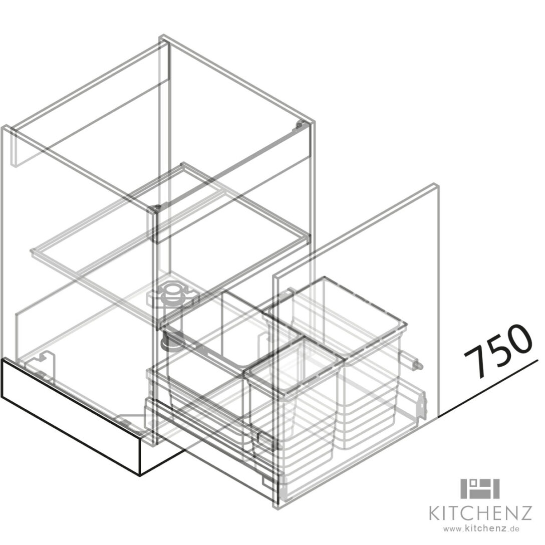 Large Size of Häcker Müllsystem Nolte Kchen Splenschrank Mit Abfall Sabd50 Online Kaufen Küche Wohnzimmer Häcker Müllsystem