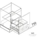 Häcker Müllsystem Nolte Kchen Splenschrank Mit Abfall Sabd50 Online Kaufen Küche Wohnzimmer Häcker Müllsystem