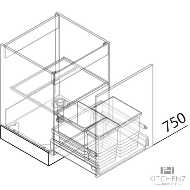 Medium Size of Häcker Müllsystem Nolte Kchen Splenschrank Mit Abfall Sabd50 Online Kaufen Küche Wohnzimmer Häcker Müllsystem