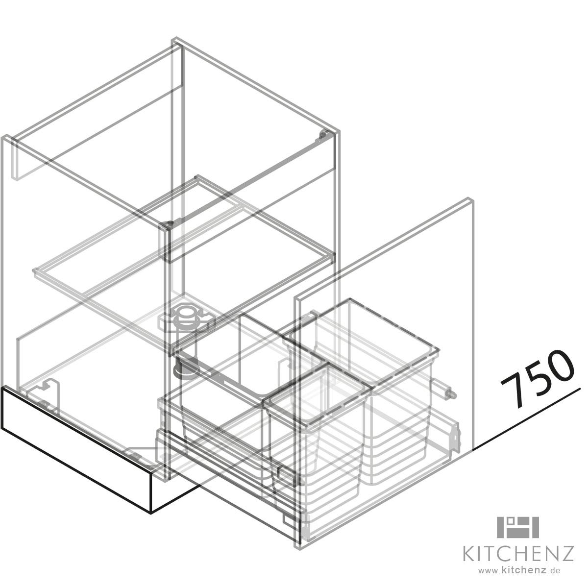Full Size of Häcker Müllsystem Nolte Kchen Splenschrank Mit Abfall Sabd50 Online Kaufen Küche Wohnzimmer Häcker Müllsystem