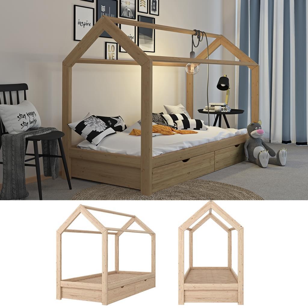 Full Size of Hausbett 100x200 Mit Unterbett 120x200 Bettkasten Vipack 90x200 Bett Weiß Betten Wohnzimmer Hausbett 100x200