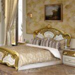 Barock Bett 180x200 Schlafzimmerbett Gold 1 Mit Bettkasten 220 X 200 Massiv Betten überlänge Weiß Kaufen Bei Ikea Landhaus Schubladen Wohnzimmer Barock Bett 180x200