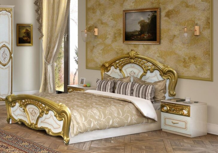 Medium Size of Barock Bett 180x200 Schlafzimmerbett Gold 1 Mit Bettkasten 220 X 200 Massiv Betten überlänge Weiß Kaufen Bei Ikea Landhaus Schubladen Wohnzimmer Barock Bett 180x200