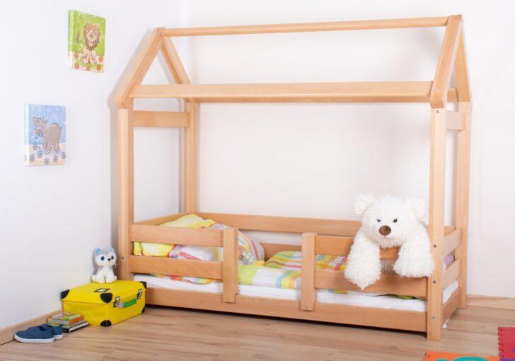 Medium Size of Hausbett 100x200 Kinderbett 01 Buche Massiv Natur Bett Weiß Betten Wohnzimmer Hausbett 100x200
