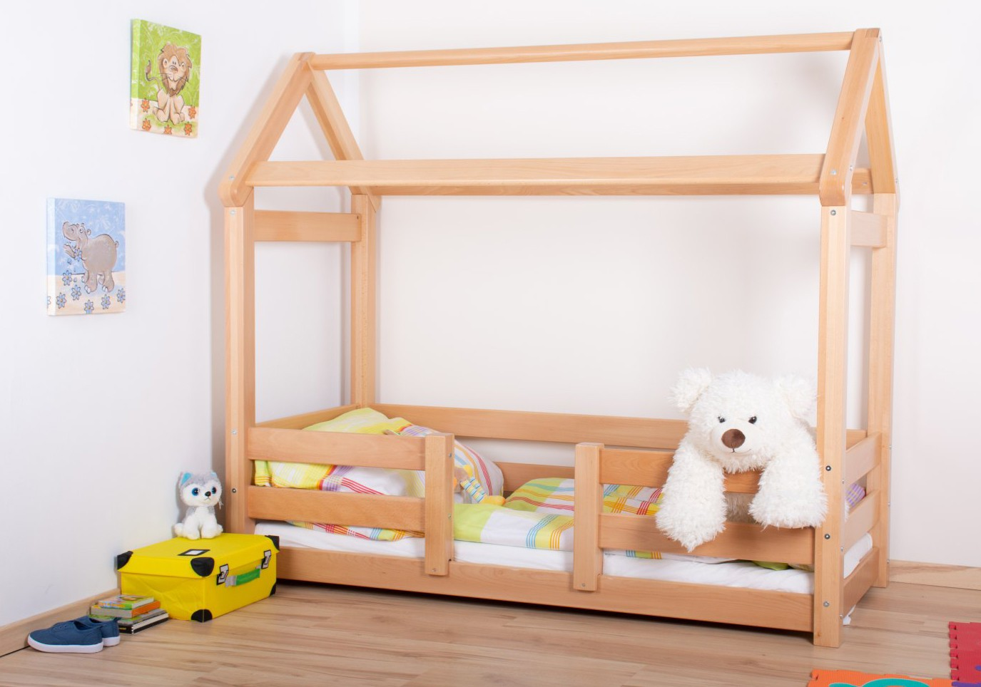 Full Size of Hausbett 100x200 Kinderbett 01 Buche Massiv Natur Bett Weiß Betten Wohnzimmer Hausbett 100x200