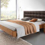 Komplettbett 180x220 Bett Schwebende Optik Aus Eiche Natur Behandelt Panama Wohnzimmer Komplettbett 180x220