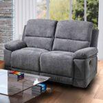 Kinosessel 2er Microfaser Wohnzimmer Lifestyle4living 2 Sitzer Sofa In Grauer Microfaser Mit 2er Grau