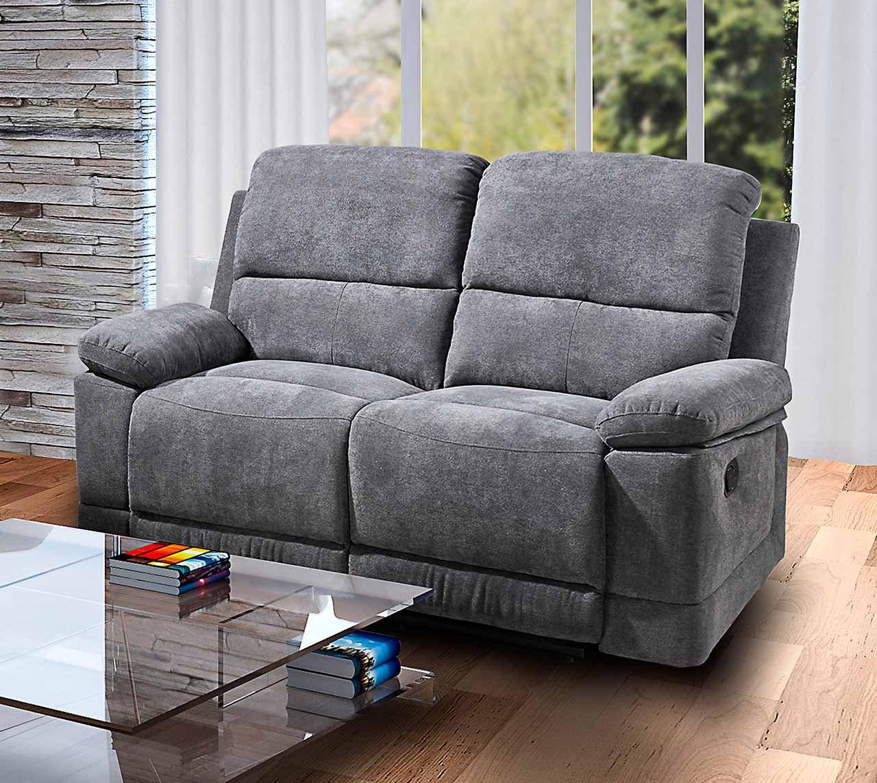 Full Size of Lifestyle4living 2 Sitzer Sofa In Grauer Microfaser Mit 2er Grau Wohnzimmer Kinosessel 2er Microfaser