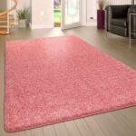 Teppich Waschbar Wohnzimmer Hochflor Teppich Waschbar Einfarbig Pink Teppichcenter24 Badezimmer Wohnzimmer Teppiche Schlafzimmer Küche Bad Steinteppich Für Esstisch