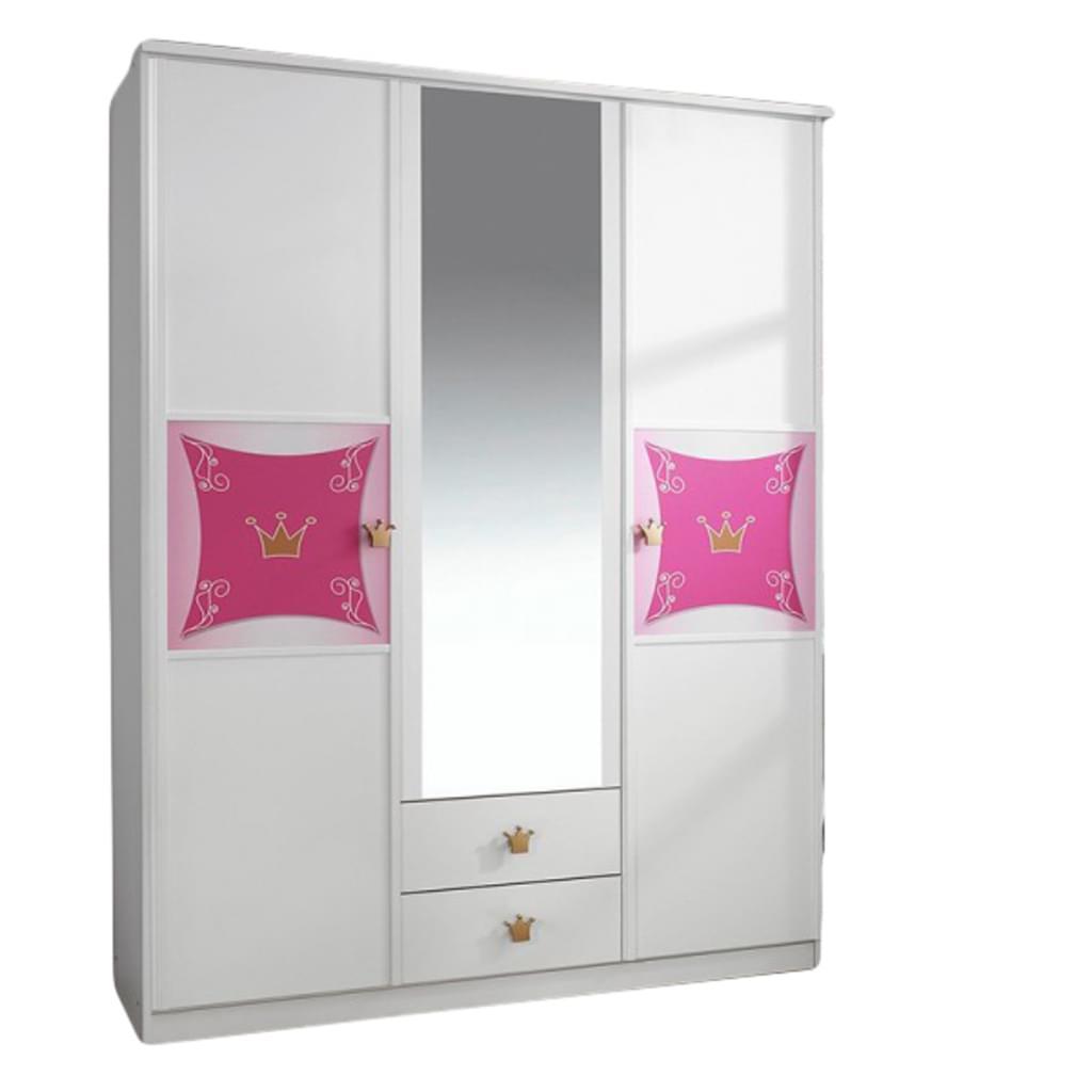 Full Size of Kleiderschrank Real Schrank Kinderzimmer Wei Rosa 3 Tren B 136 Cm Regal Mit Wohnzimmer Kleiderschrank Real