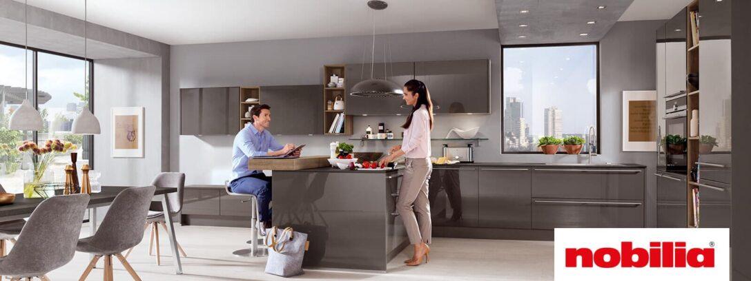 Large Size of Nobilia Sand Luhochglanz Trifft Auf Gradliniges Design Ottoversand Betten Küche Einbauküche Wohnzimmer Nobilia Sand