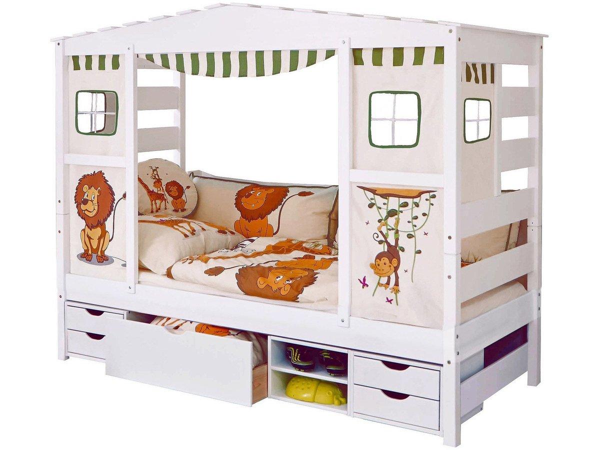 Full Size of Hausbett 100x200 Ticaa Inkl Funktionsschubkasten Online Kaufen Bolmondo Betten Bett Weiß Wohnzimmer Hausbett 100x200
