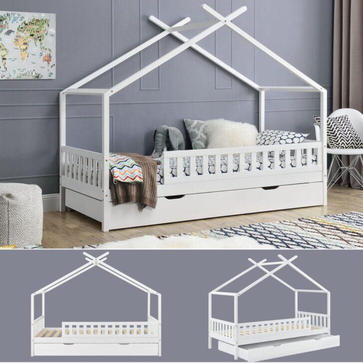 Medium Size of Hausbett 100x200 Mit Unterbett 90x200 Vipack Bettkasten 120x200 Real Und Bett Weiß Betten Wohnzimmer Hausbett 100x200