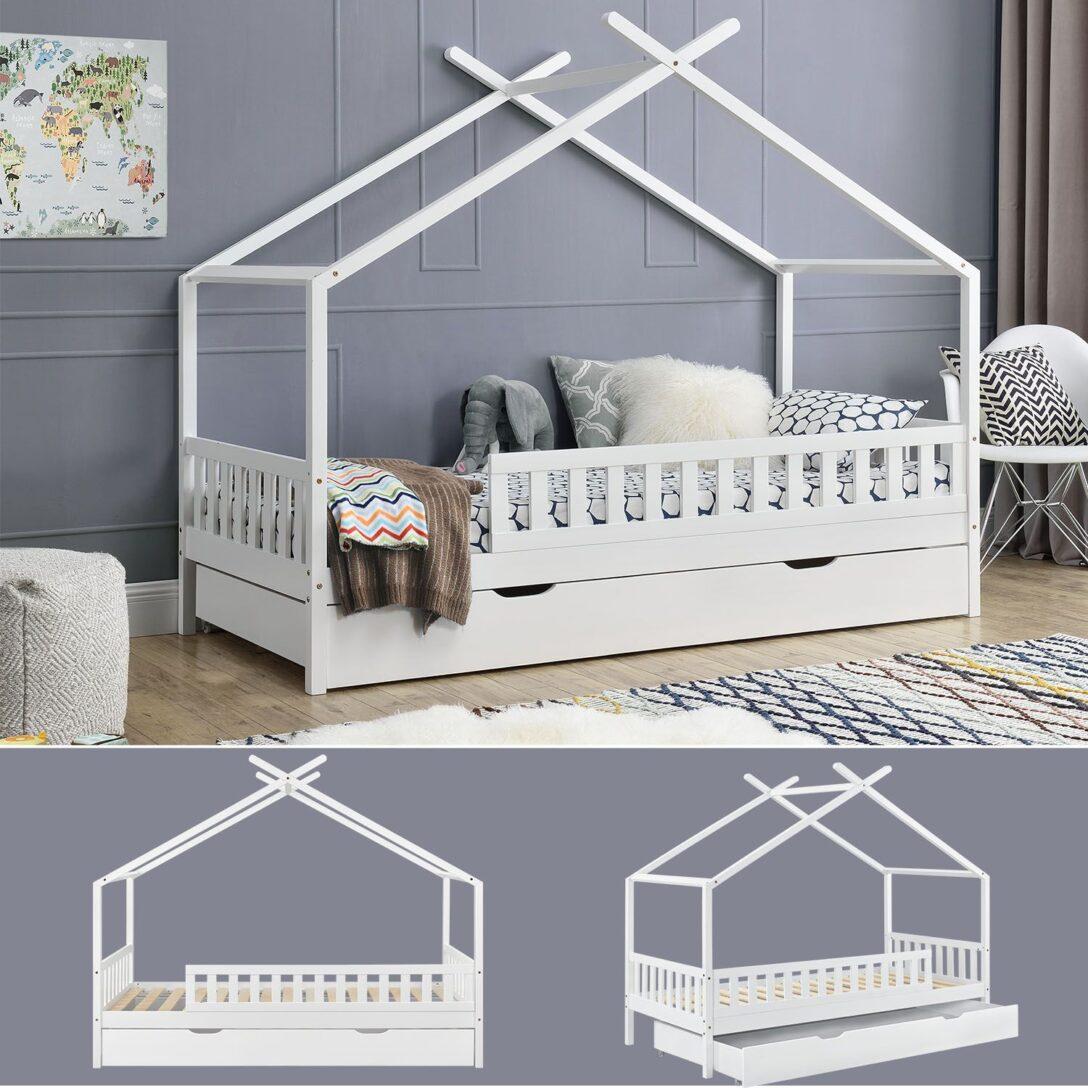 Full Size of Hausbett 100x200 Mit Unterbett 90x200 Vipack Bettkasten 120x200 Real Und Bett Weiß Betten Wohnzimmer Hausbett 100x200