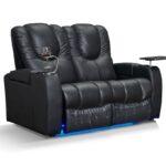 Kinosessel 2er Microfaser Cinema Sessel Sofa Grau Wohnzimmer Kinosessel 2er Microfaser