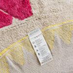 Minividuals Waschbarer Teppich Origami Tiere Gelb Hellblau Pink Wohnzimmer Teppiche Schlafzimmer Bad Für Küche Esstisch Steinteppich Badezimmer Wohnzimmer Teppich Waschbar