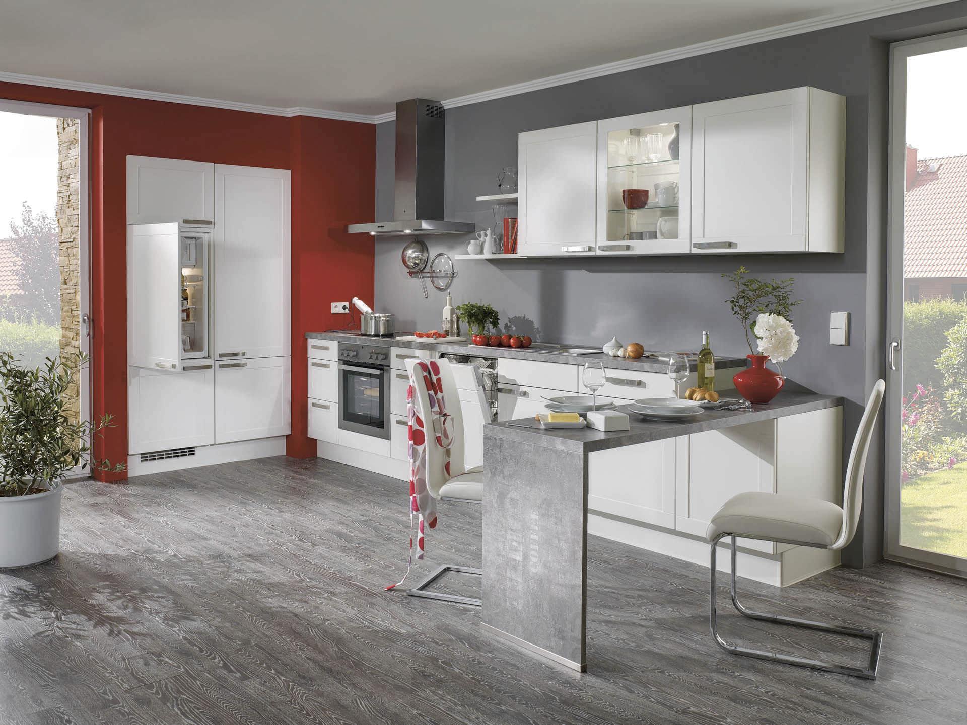 Full Size of Nobilia Alba Moderne Kche 679 Marmor Lackiert Mit Griffen Küche Einbauküche Wohnzimmer Nobilia Alba