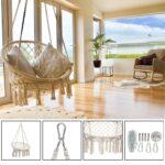 Schaukel Metall Erwachsene Wohnzimmer Hngematte Schaukel Hngesessel Outdoor Indoor Garten Schaukelstuhl Regal Metall Bett Regale Weiß Für