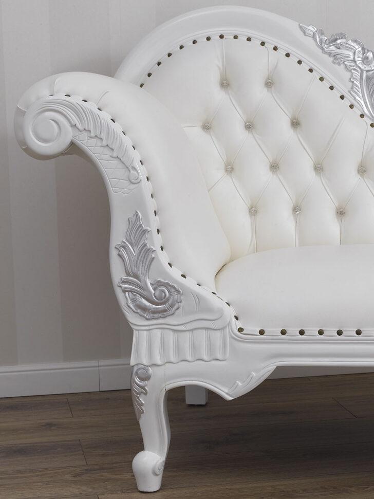 Medium Size of Recamiere Joana Moderner Barock Stil Chaiselongue Sofa Wei Bett Mit Wohnzimmer Recamiere Barock