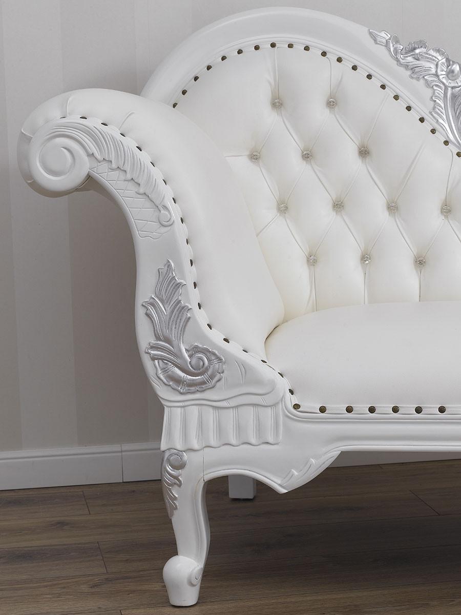 Full Size of Recamiere Joana Moderner Barock Stil Chaiselongue Sofa Wei Bett Mit Wohnzimmer Recamiere Barock