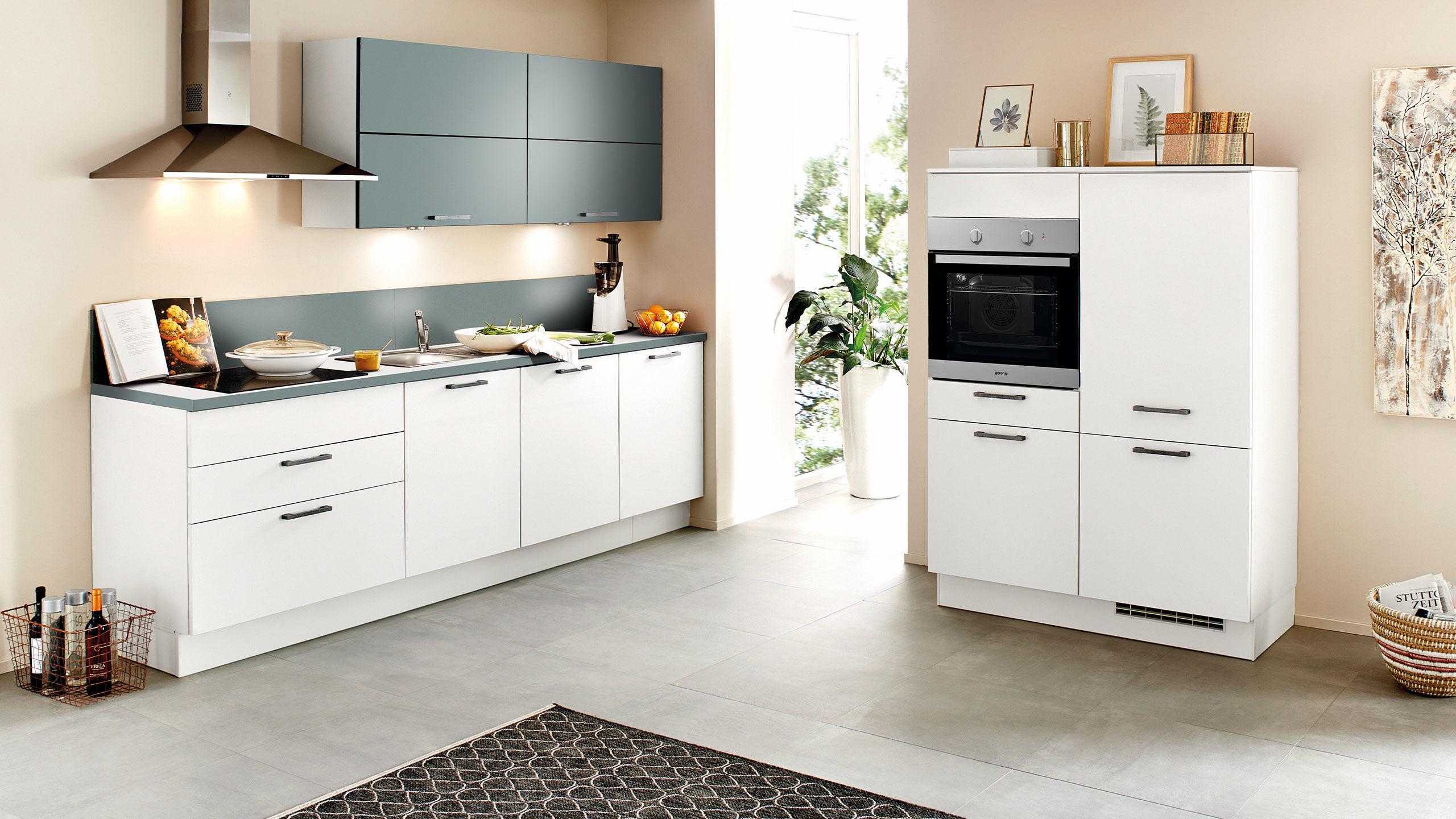 Full Size of Nobilia Alba Kche Touch 876 Wei Matt Betongrau Wandsticker Mit Küche Einbauküche Wohnzimmer Nobilia Alba