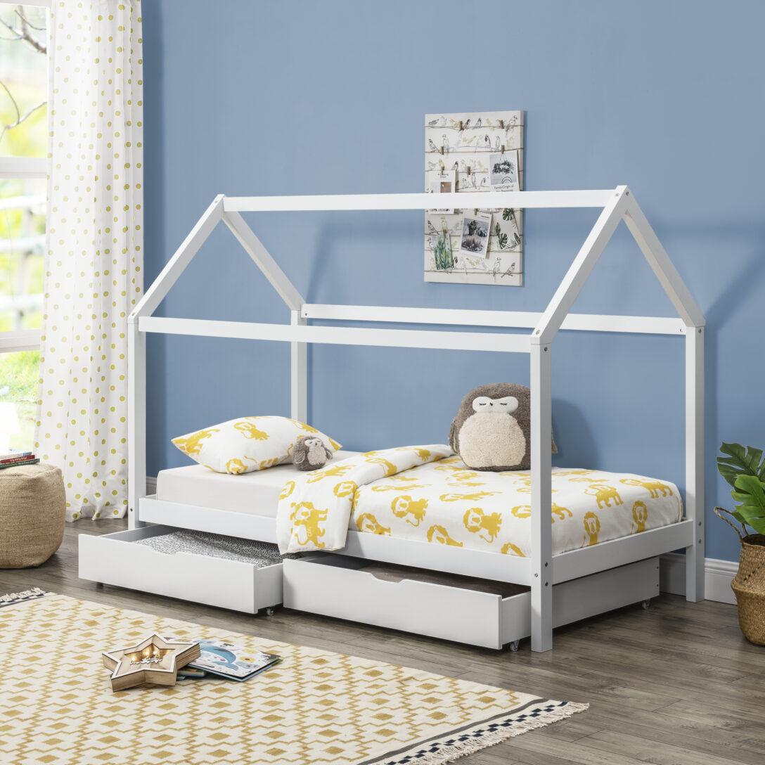 Large Size of Hausbett 100x200 Encasa Kinderbett Mit Bettkasten 90x200cm Haus Holz Wei Betten Bett Weiß Wohnzimmer Hausbett 100x200