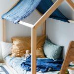 Hausbett 100x200 Fr Floor Bed Nach Maria Montessori Bett Weiß Betten Wohnzimmer Hausbett 100x200