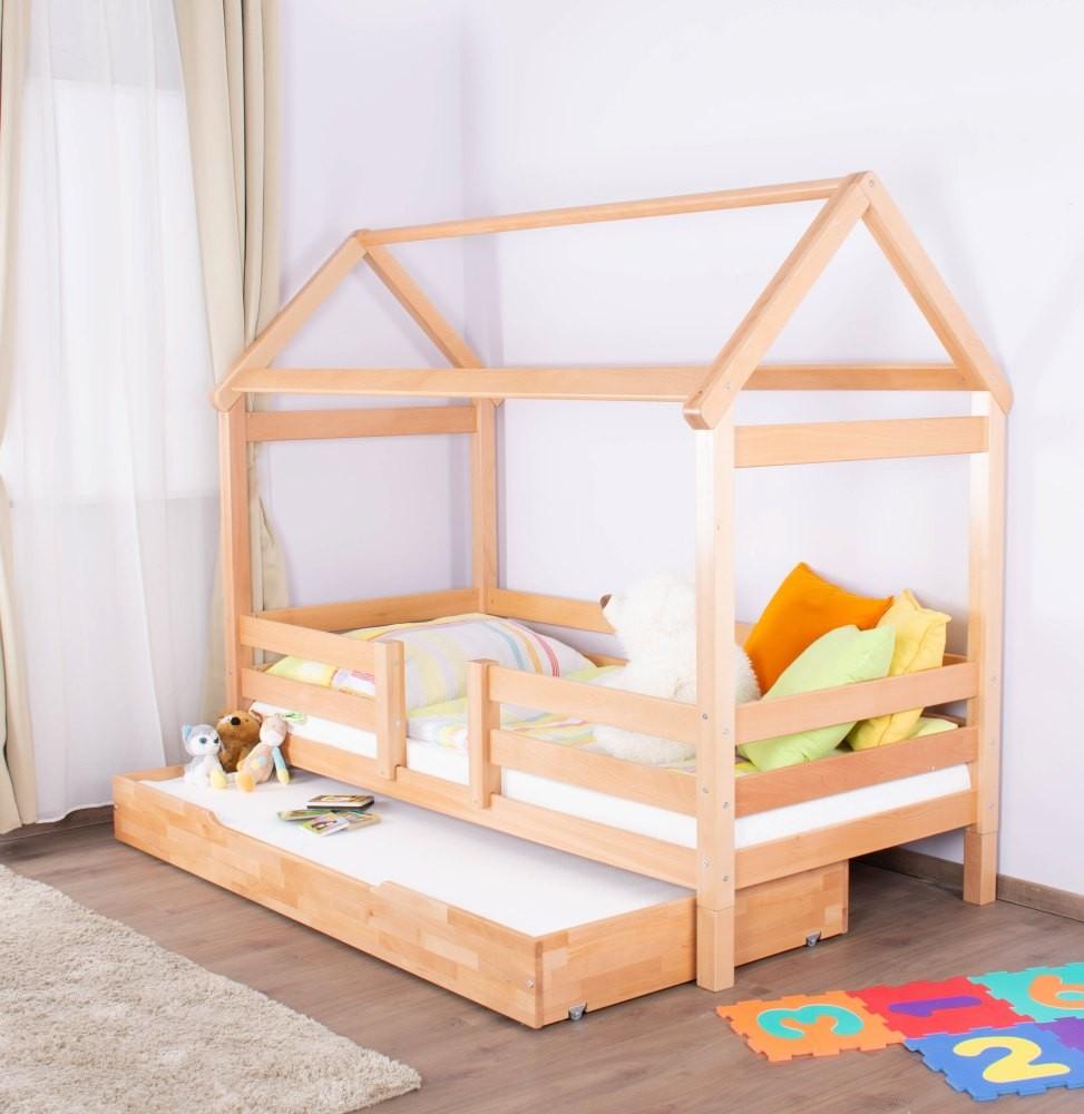 Full Size of Kinderbett Hausbett 01 Buche Massiv Natur Bett 100x200 Weiß Betten Wohnzimmer Hausbett 100x200