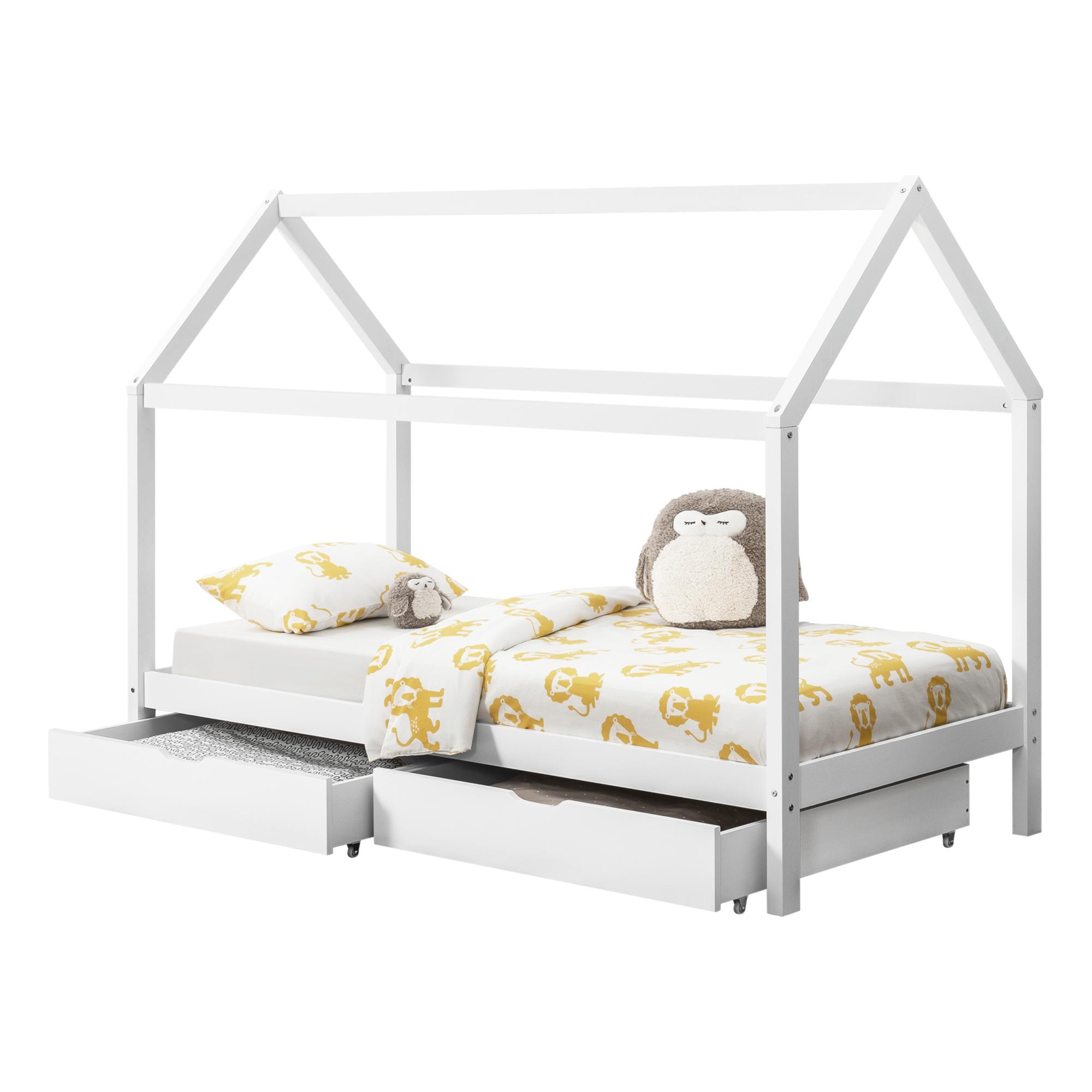 Full Size of Hausbett 100x200 Encasa Kinderbett Mit Bettkasten 90x200cm Haus Holz Wei Betten Bett Weiß Wohnzimmer Hausbett 100x200