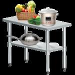 Edelstahl Arbeitstisch Gastro Tisch Edelstahltisch Kchentisch Mit Wohnzimmer Gastronomie Edelstahlmöbel