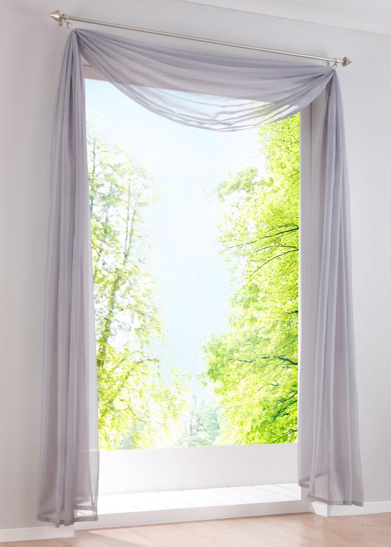 Large Size of Bonprix Gardinen Querbehang Transparenter Freihandbogen Einfarbig Schalvorhnge Fenster Küche Für Die Wohnzimmer Scheibengardinen Betten Schlafzimmer Wohnzimmer Bonprix Gardinen Querbehang