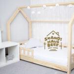Skandi Hausbett Bett 100x200 Betten Weiß Wohnzimmer Hausbett 100x200