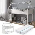 Bett 100x200 Betten Weiß Wohnzimmer Hausbett 100x200