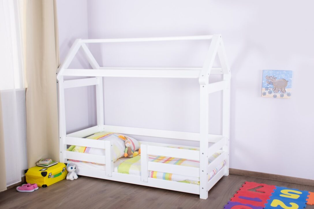 Large Size of Kinderbett Hausbett 01 Buche Massiv Wei Bett Weiß 100x200 Betten Wohnzimmer Hausbett 100x200
