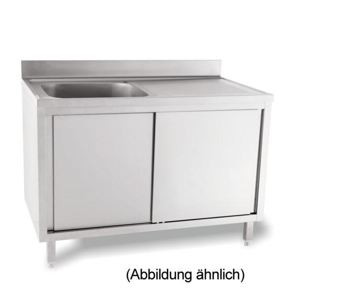 Medium Size of Gastronomie Edelstahlmöbel Splschrank Mit 50 Mm Aufkantung Schiebetren 1 Becken Links Wohnzimmer Gastronomie Edelstahlmöbel
