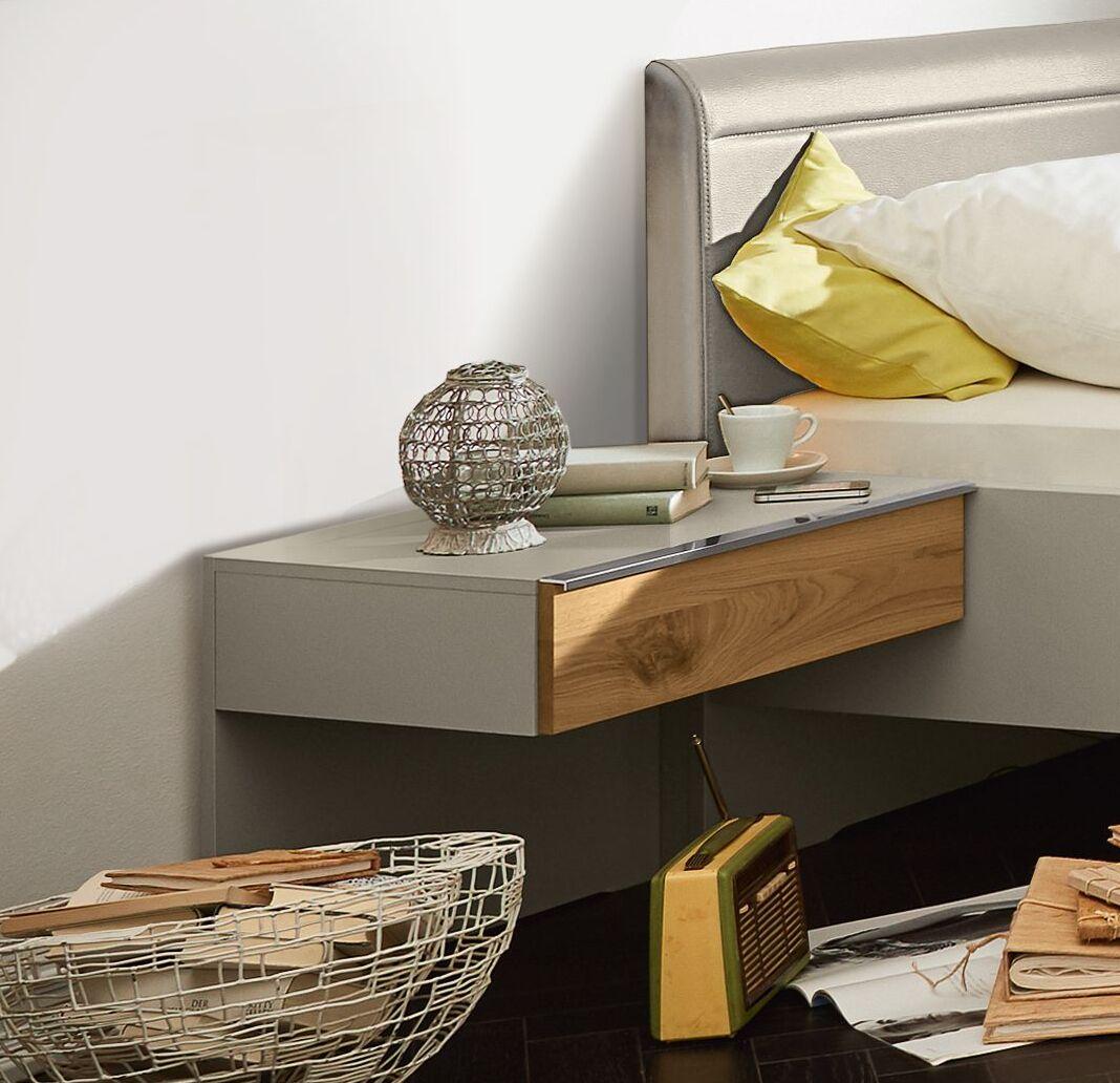 Full Size of Musterring Schwebenachttisch Mit Schublade Saphira Kieselgrau Betten Esstisch Wohnzimmer Musterring Saphira