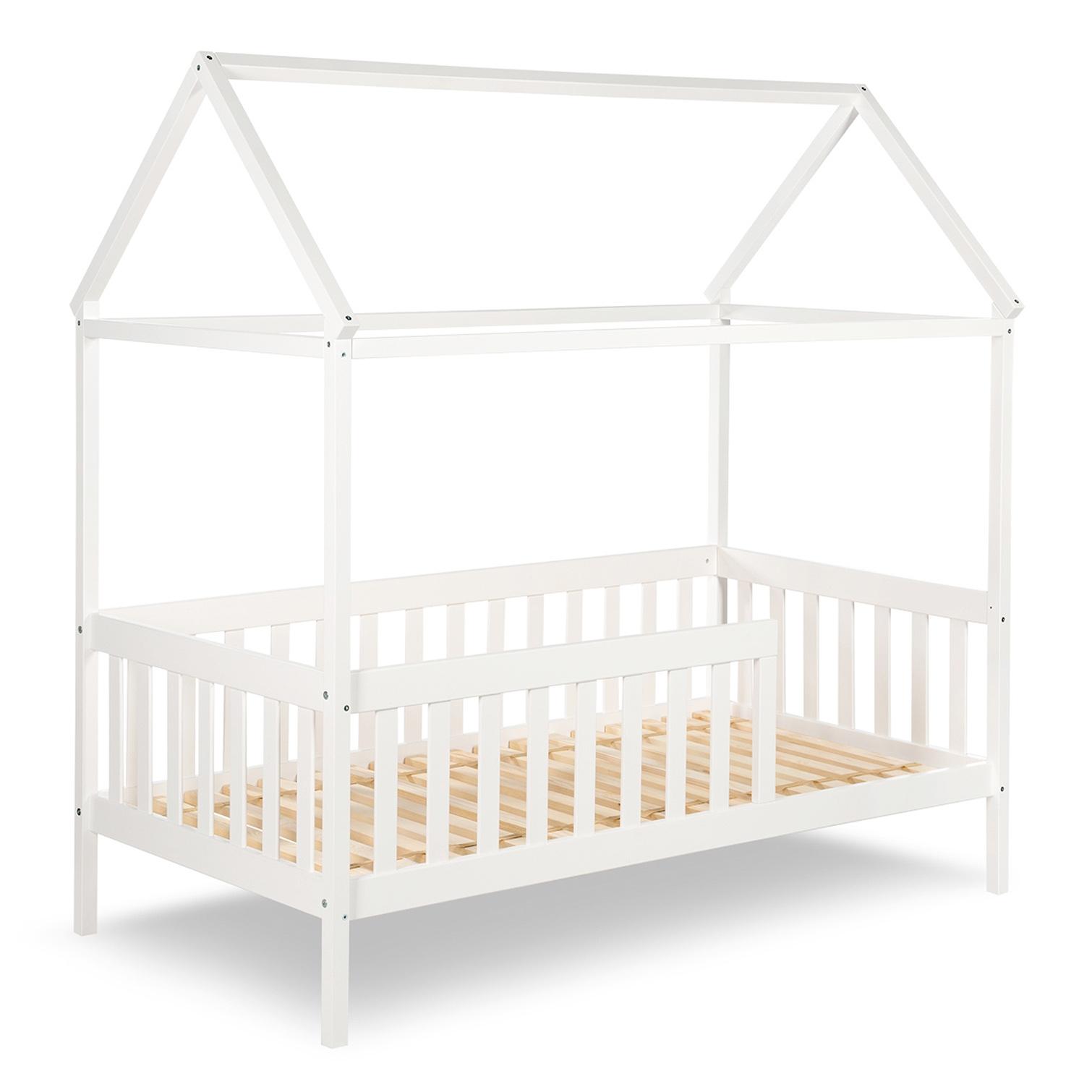 Full Size of Hausbett 100x200 Kleinkind Bett Jojunior Mit Gitterrand Wei 80x160cm Bei Betten Weiß Wohnzimmer Hausbett 100x200