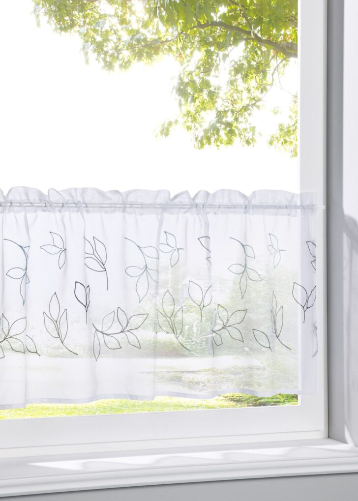 Medium Size of Bonprix Gardinen Querbehang Scheibengardine Loreen Für Die Küche Schlafzimmer Wohnzimmer Betten Scheibengardinen Fenster Wohnzimmer Bonprix Gardinen Querbehang
