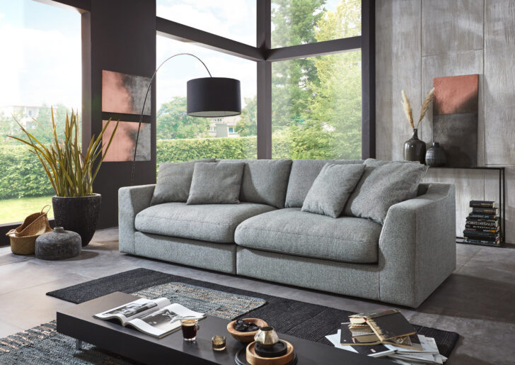 Medium Size of Big Sofa Rundecke Phantasia Ca 274x90x112 Cm Mbel Inhofer Günstig Togo Sam Modernes Grau Leder Lagerverkauf Kissen Schlafsofa Liegefläche 160x200 Neu Wohnzimmer Big Sofa Rundecke