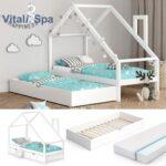 Hausbett Mit Unterbett 90x200 120x200 Bettkasten 80x160 Und Bett 100x200 Betten Weiß Wohnzimmer Hausbett 100x200
