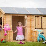 Spielhaus Ausstellungsstück Fun Park 2 Küche Garten Kunststoff Holz Kinderspielhaus Bett Wohnzimmer Spielhaus Ausstellungsstück