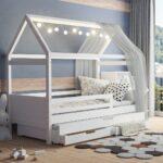 Hausbett 120x200 Wei Bett Weiß 100x200 Betten Wohnzimmer Hausbett 100x200
