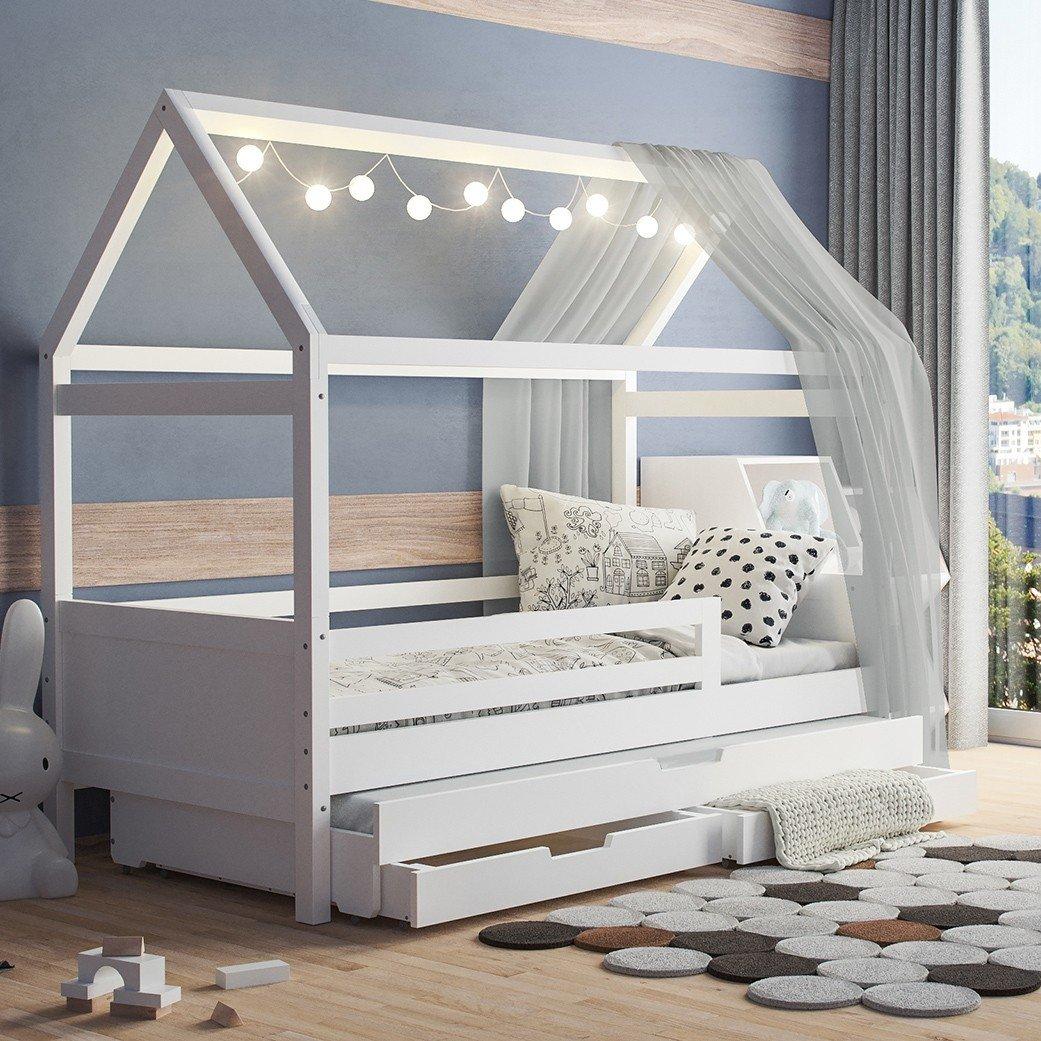 Full Size of Hausbett 120x200 Wei Bett Weiß 100x200 Betten Wohnzimmer Hausbett 100x200